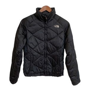 THE NORTH FACE Black Gloss Quilt Jacket Size XS